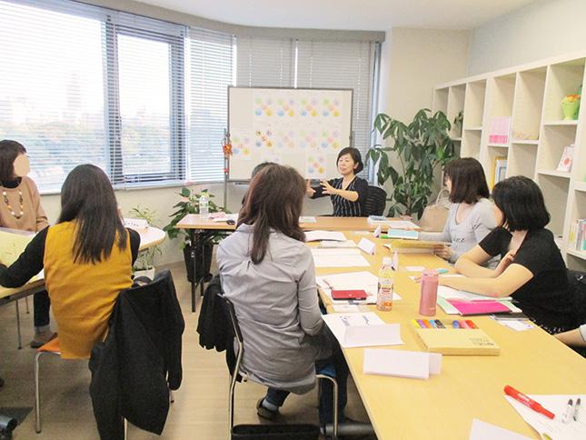 広島のメンタルタフネス講座で、性格の4つの構造をお伝えしているところ